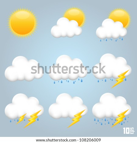 a collection of clouds