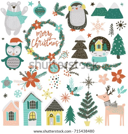 a collection of cute christmas