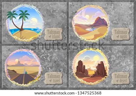 a collection of desert