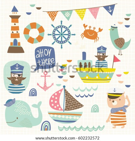 A collection of fun nautical themed clip arts.
