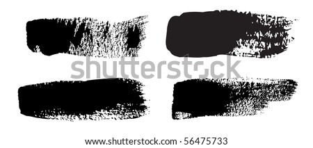 A collection of 4 natural brush strokes