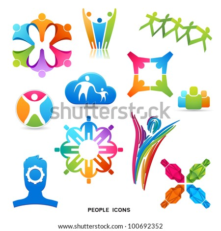 A Collection of People Icons and Symbols, vector designs.