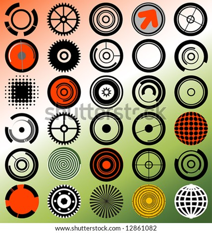 a collection of radial elements