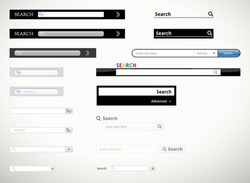 A collection of search form templates and scribbles for websites