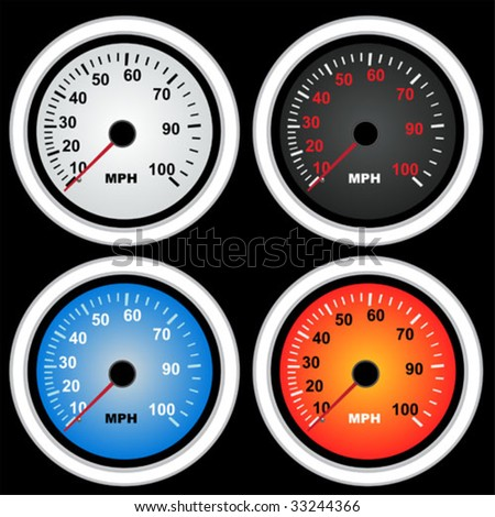 Recreation Collecting Sports Auto Racing on Collection Of Speedometers  Stock Vector 33244366   Shutterstock