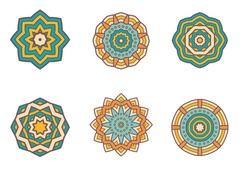 A collection of unique mandala design.