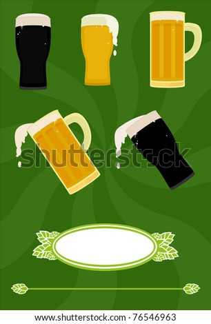 A collection of various beer illustrations.