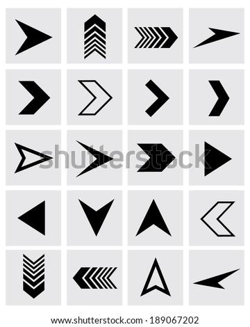 A collection of vector chevron and arrowhead design elements