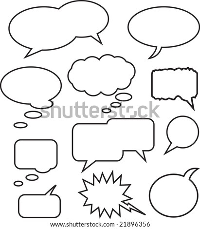 A Collection of Vector Speech Bubbles