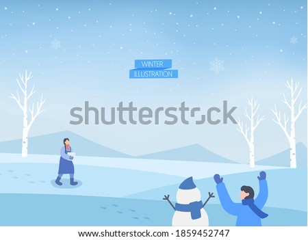 a collection of winter-emotional background illustrations Stock photo ©