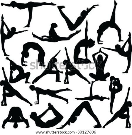 Collection of yoga poses