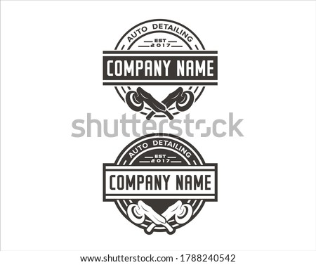 A collections of vector image for auto detailing logo. Foto stock ©
