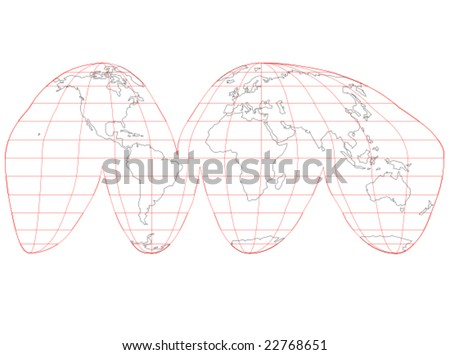 World map with latitude and longitude download free vector art a colored vector map of the world with grid lines gumiabroncs Choice Image
