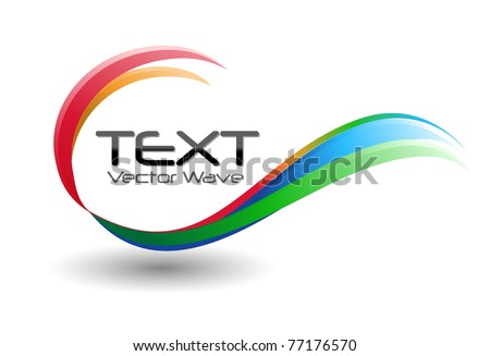 A colorful rainbow swirl icon symbol on a white background.