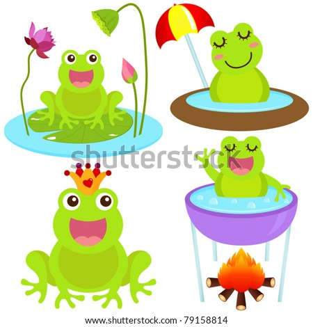 a colorful theme of cute vector