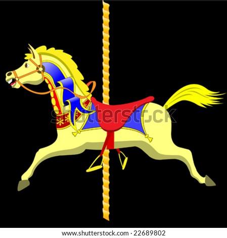 A Colorful Vector Carousel Horse
