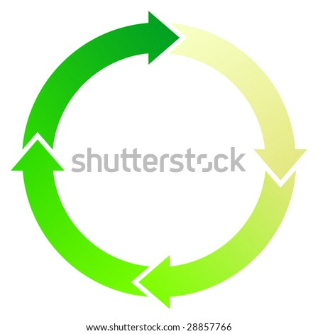 A Colourful Circular Green Arrow Illustration - stock vector