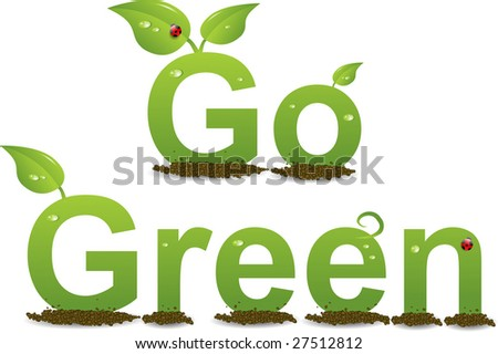 A Colourful 'Go Green' Illustration