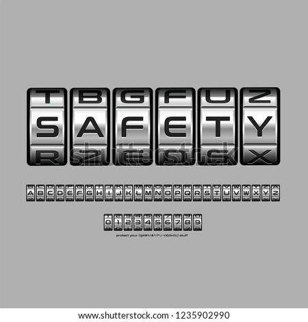 A combination lock locking device with a sequence of symbols, numbers or letters of the alphabet reading safety to open the lock