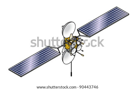 A communications satellite.