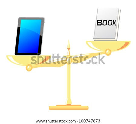 A comparison between the pad with the book