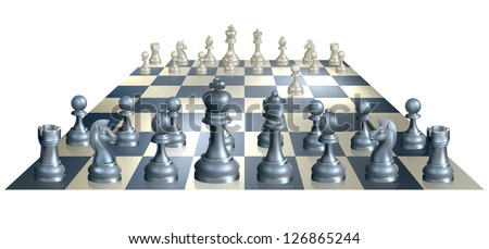 a complete set of chess pieces