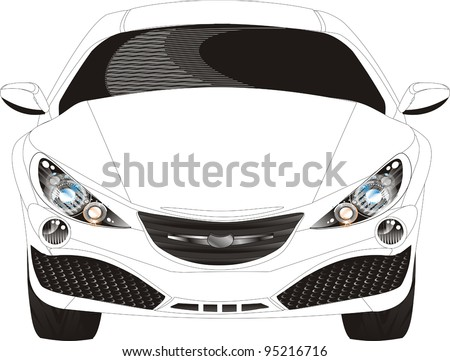 A concept vehicle or show vehicle is a car made to showcase new styling and or new technology. - stock vector