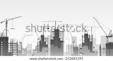 a construction site with lots