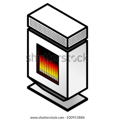 A contemporary household gas heater/radiator.