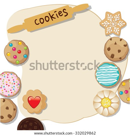 a cookie dough template