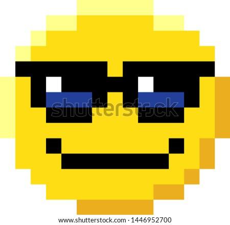 Pixel Emoji Vector Set Download Free Vectors Clipart