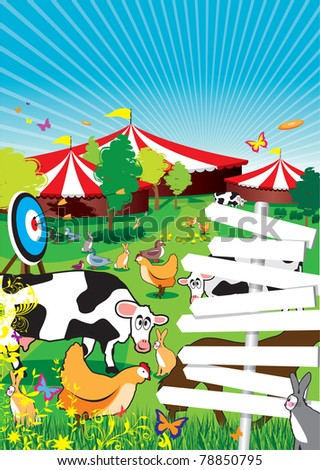 a country fair background