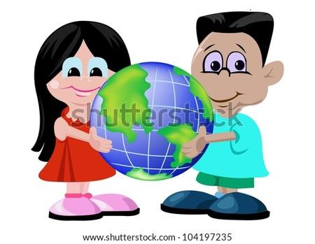 stock-vector-a-couple-children-holding-e