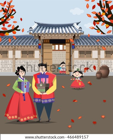 a couple dressed in korean