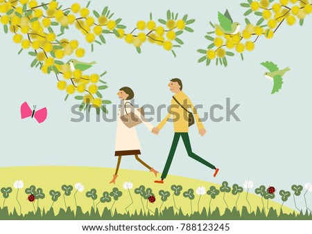 a couple walking with the