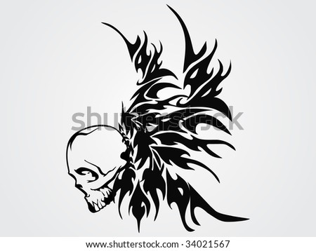 stock vector : a creative retro tattoo design