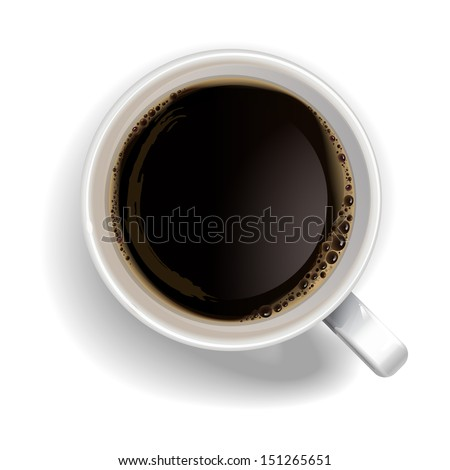 a cup of black coffeerealistic