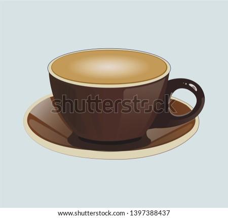A cup of cappuccino. Cappuccino vector
