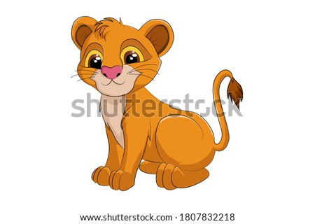 a cute baby lion simba  design