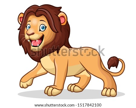 a cute cartoon male lion