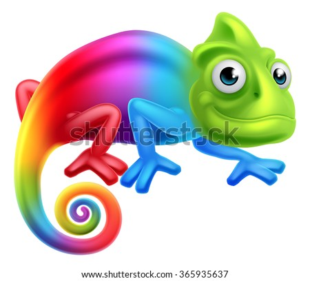 a cute cartoon rainbow coloured