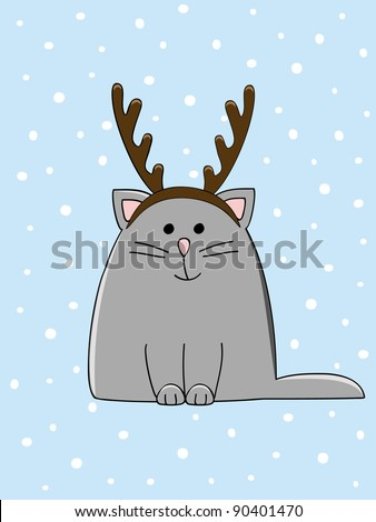 a cute cat with a christmas