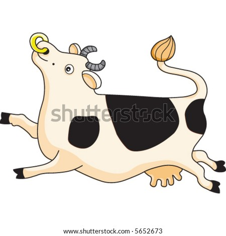 A cute cow cartoon illustration.