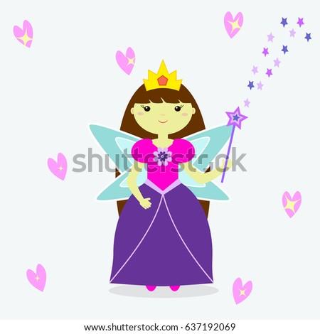 a cute fairy girl with a crown