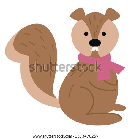 a cute little cartoon squirrel