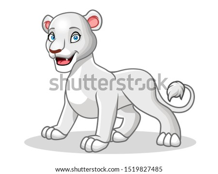 a cute of female white lion