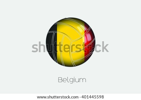a 3d football with a flag