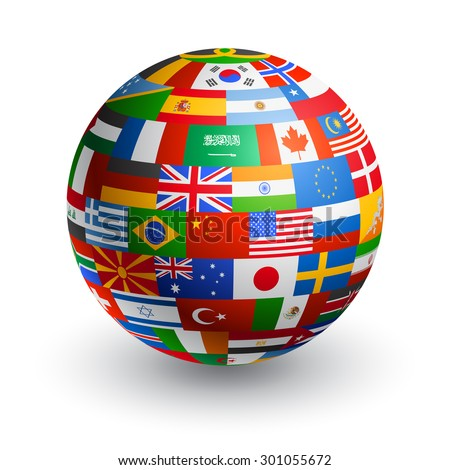 a 3d globe composed by the