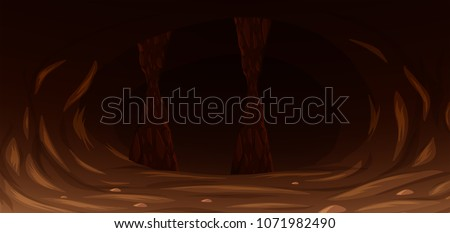 a dark scary rock cave