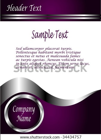 ... purple and Silver Business card or Background Template - stock vector